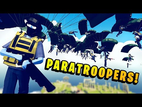 TABS - Modern Faction PARATROOPERS Drop From An OSPREY in Totally Accurate Battle Simulator - 동영상