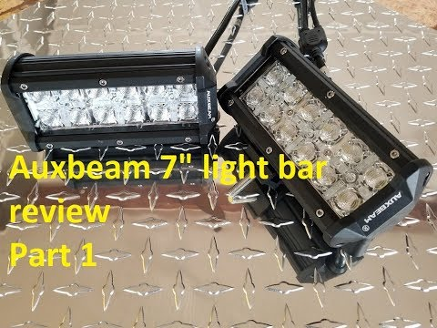 "AuxBeam 7"" Cross-2 RGB led light bar review/install part 1"