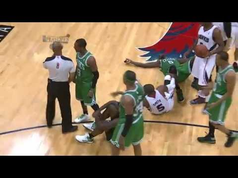 Rondo chest bumps referee! (EJECTED)!