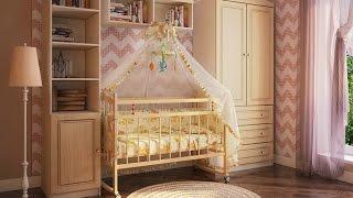 Детская комната Фанки Крем. Кровать для новорождённого. Интернет-магазин