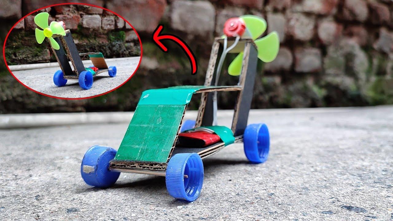 DIY Simple electric air powered car  