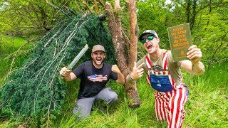 Walmart SURVIVAL CHALLENGE in the WOODS!!! (Only 3 Items)