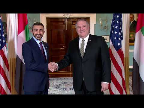 Meeting with Emirati Foreign Minister Abdullah bin Zayed Al Nahyan