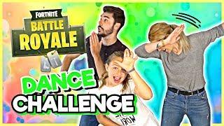 FORTNITE DANCE CHALLENGE 🕺(In REAL LIFE) Carameluchi family 👨 👩 👧 👧 👦
