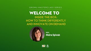 Inside The Box - Learn how to think differently and innovate on demand