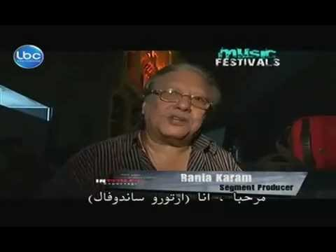 "Rony Barrak & legend Arturo Sandoval, Interview on LBCI TV ""In Touch"" at Beirut Jazz Festival"