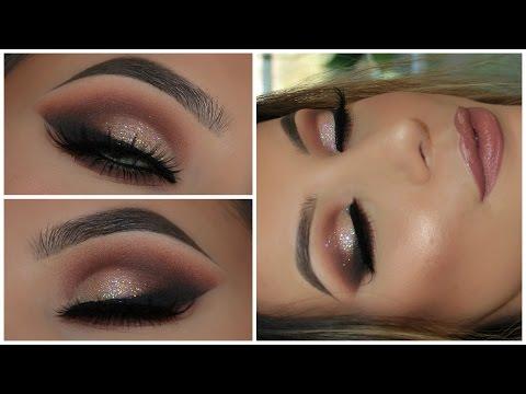Champagne Glitter Smokey Eye   Full Face   Amys Makeup Box