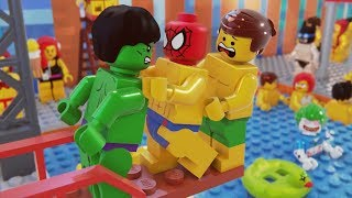 Lego Spider Man Swimming Pool Fail