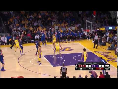 Milos Teodosic 3-Pointer - Los Angeles Lakers vs. Los Angeles Clippers - NBA 19/10/2017