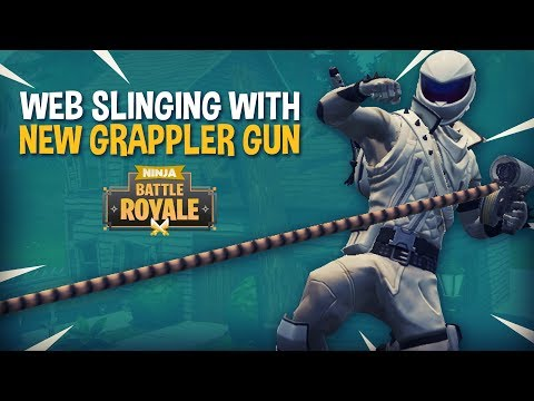 Web Slinging With New Grappler Gun!! - Fortnite Battle Royale Gameplay - Ninja & Nickmercs