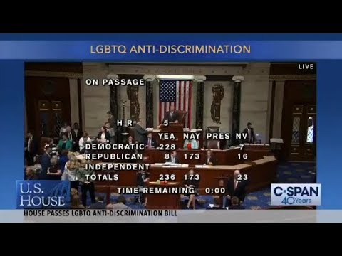 House votes to pass Equality Act, prohibiting discrimination based ...