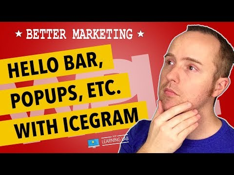 Icegram WordPress Plugin For Free Hello Bars, Notifications and Popup Optins