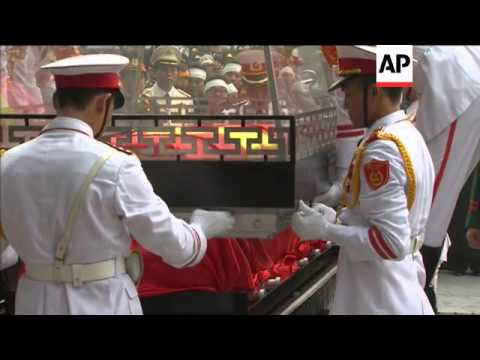 AP pix of state funeral for General Giap, casket driven through streets of Hanoi