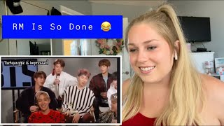 """Reaction to """"RM/Namjoon Being Done With BTS English"""" (Two Videos In One)"""