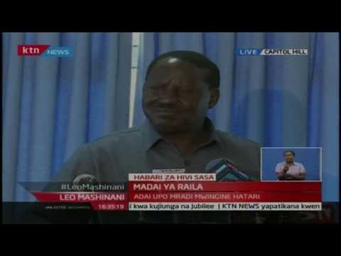 """Raila Odinga, """"Jubilee say that I'm only telling lies, but look around, the scandals are real."""""""