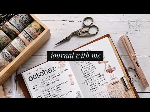a vintage bullet journal weekly spread · journal with me