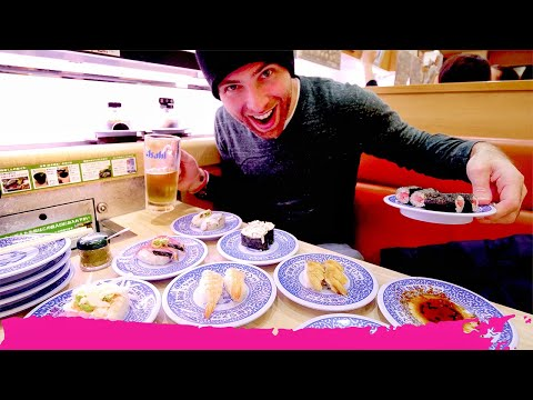INCREDIBLE Conveyor Belt SUSHI Experience At Kurazushi | Kyoto, Japan