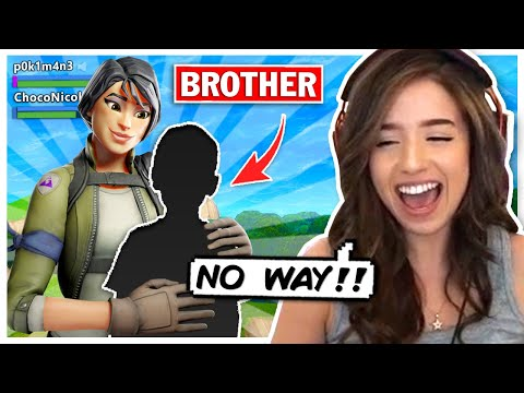 Pokimane Finds her YOUNGER BROTHER in Fortnite Random Duos!