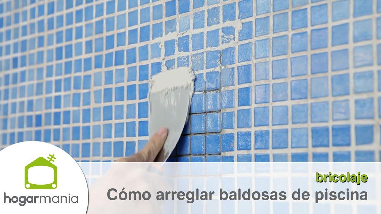 C mo arreglar baldosas de piscina youtube for Arreglar piscina