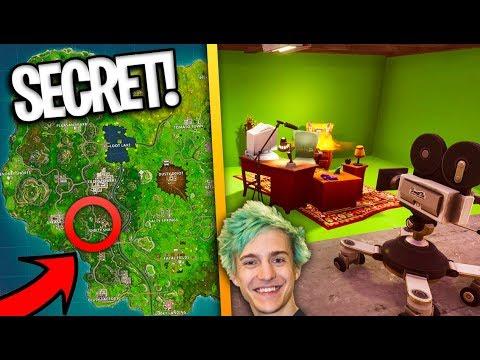 how to find ninja 39 s secret stream room in fortnite battle royale season 4 youtube. Black Bedroom Furniture Sets. Home Design Ideas