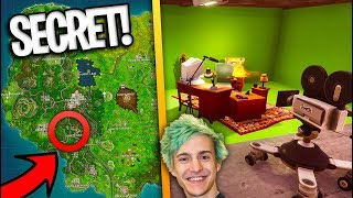 HOW TO FIND NINJA'S SECRET STREAM ROOM in Fortnite Battle Royale SEASON 4!