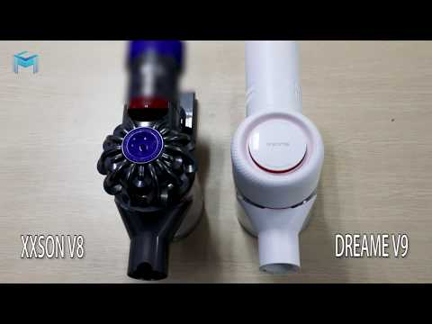 Suction Test Dreame V9 vs DySon V8