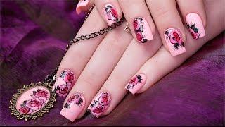 видео наращивание ногтей акрилом дизайн