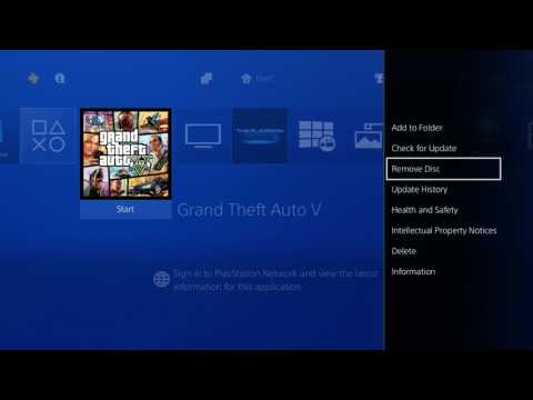 How to Remove Disc on PS4 through Home Screen