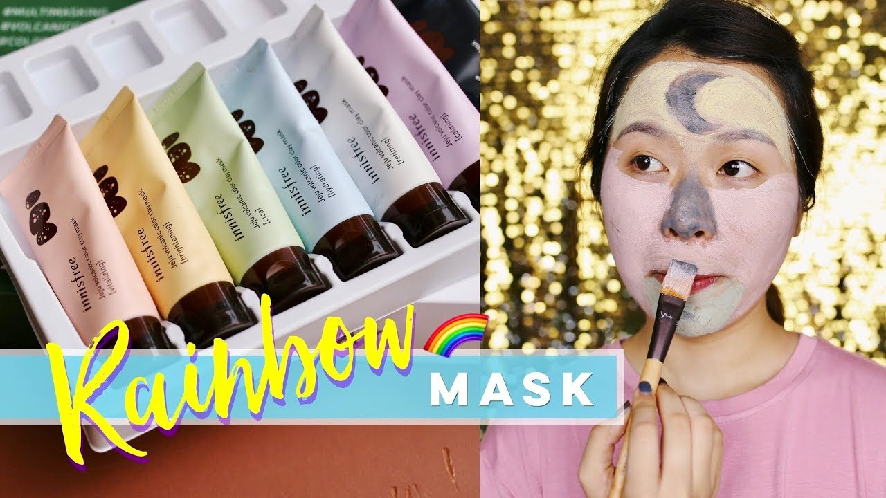 Mặt nạ sắc màuu | TEST INNISFREE VOLCANIC COLOR CLAY MASK | Letsplaymakeup