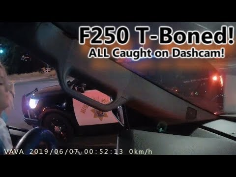 Wait for it...Ford F250 smashed into at a stoplight! All caught on VAVA Dash Cam! Mrs. Meade