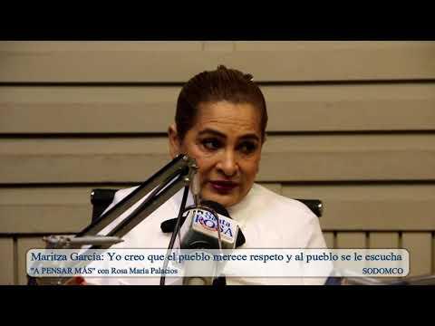 Maritza García: Yo creo que el pueblo merece respeto y al pueblo se le escucha