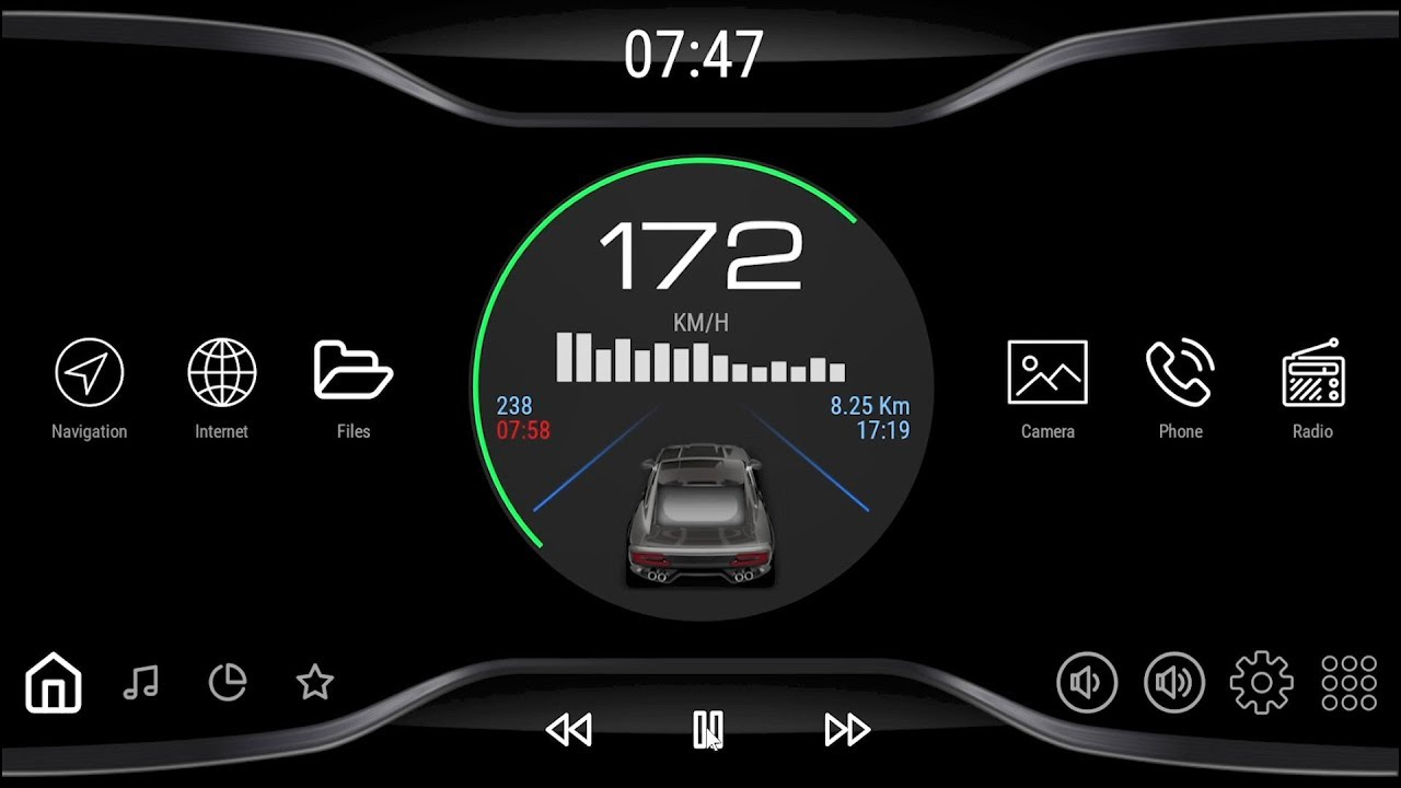 Black V3 - theme for CarWebGuru car launcher