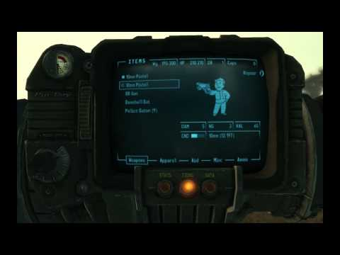 How to repair a weapon in Fallout 3 (XboX 360) [HD]