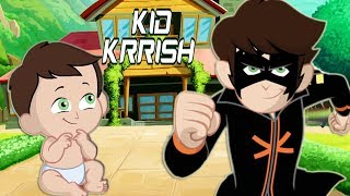 Kid Krrish Movie Cartoon | Cartoon Movies For Kids | Videos For Kids | Best Scenes #01