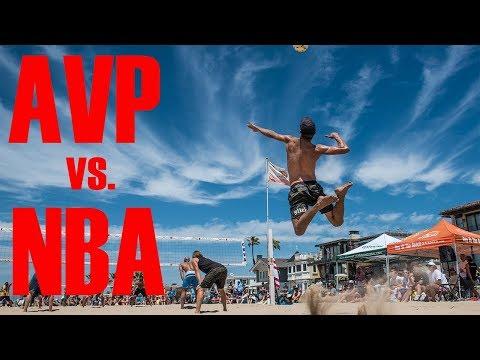 THE GREATEST BEACH VOLLEYBALL MATCH EVER | AVP vs. NBA