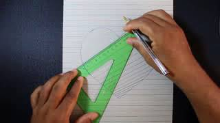 How to Draw a 3D Hole Heart Shape   Easy 3D Drawings for Kids   YouTube