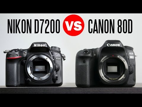 Canon 80D vs Nikon D7200 - Full Camera Comparison