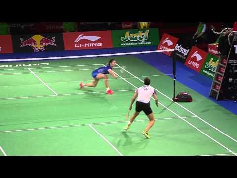 [HD] Final - WS - Carolina Marin vs Li Xuerui - 2014 World Championships