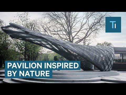 Students And Researchers Built A Pavilion Out Of Carbon Fiber Using Robots