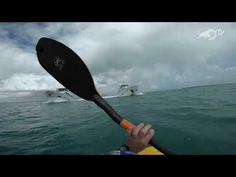 Kayak rental: Dane Jackson Takes on the Wake of Two Yachts