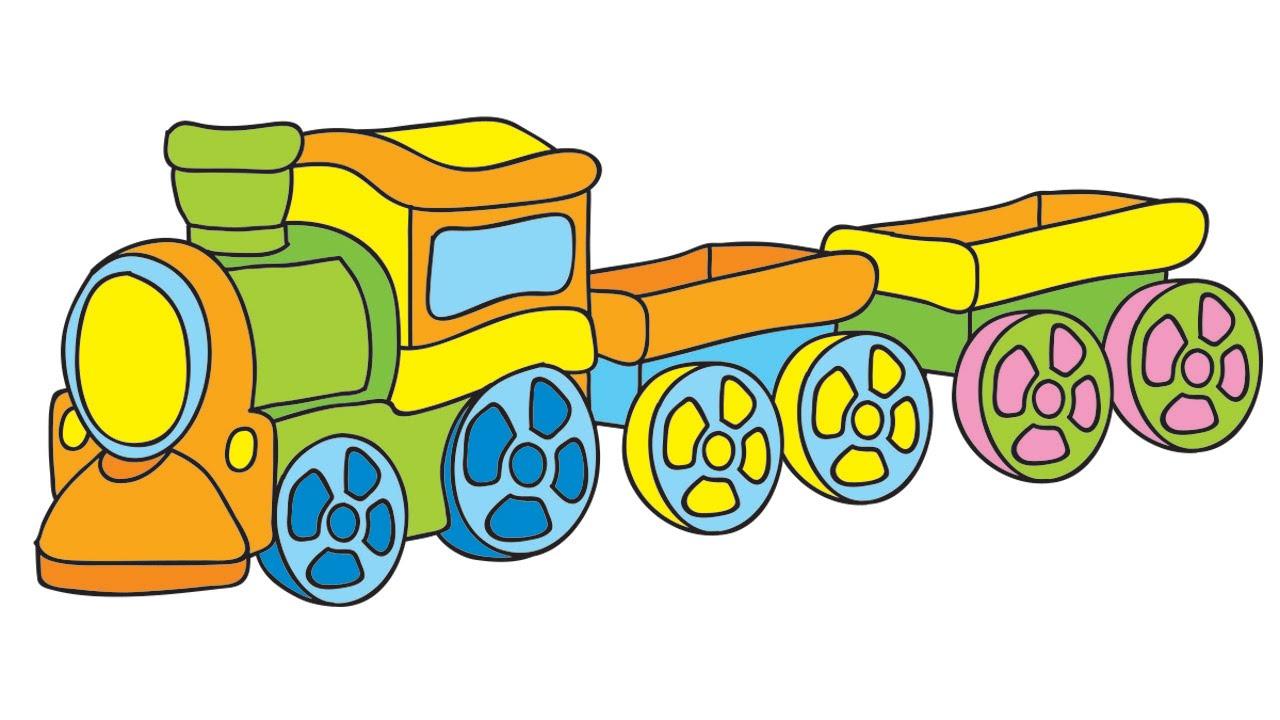 Mes jouets pr f r s la grue et le petit train youtube - Train en dessin ...