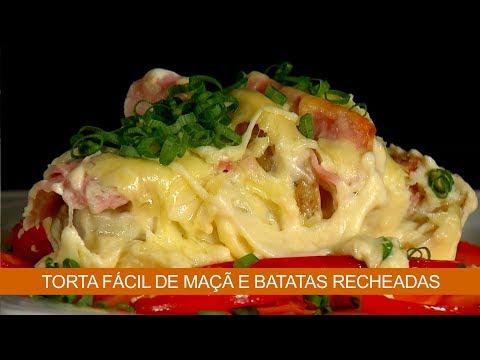 TORTA FÁCIL DE MAÇÃ E BATATAS RECHEADAS