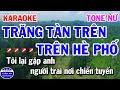 Karaoke Trăng Tàn Trên Hè Phố Tone Nữ Nhạc Sống Rumba