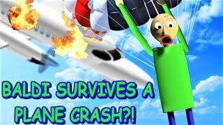 CAN BALDI SURVIVE A PLANE CRASH IN ROBLOX?! | Die seltsame Seite von Roblox: Erlebe einen Flugzeugabsturz Obby