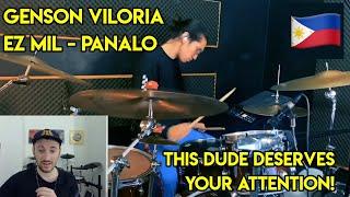CHECK THIS GUY OUT! Drum Teacher reacts to Genson Viloria (Panalo - Ez Mil Drum Remix!)