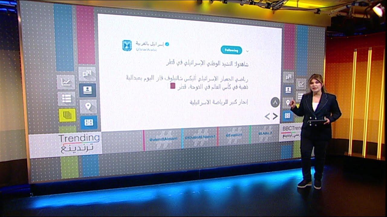 رفع النشيد الوطني الإسرائيلي في قطر يثير الجدل وانتشار هاشتاغ لا_للتطبيع