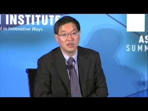 中英同传 Mandarin Chinese Simultaneous Interpreter Dr. Bernard Song at Milken Institute Asia Summit 2014