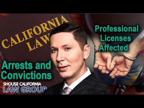 Criminal convictions & CA professional licenses