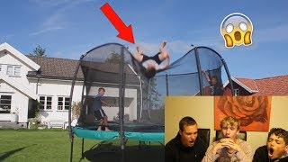THE WORST TRAMPOLINE FAILS! (REACTION)