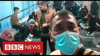 New evidence of Belarus sending migrants across its border - BBC News